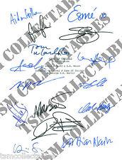 GAME OF THRONES autographed PILOT script Emilia CLARKE Maisie WILLIAMS Sean BEAN