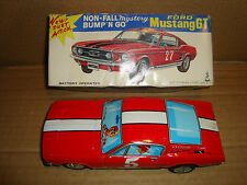 TIN TOY FORD MUSTANG GT BATTERY OPERATED TAIYO MADE IN JAPAN PAT.P 028168 101482