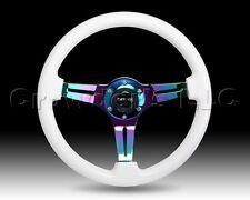 NRG Glow in the Dark Luminor Wood Steering Wheel Neochrome - 350mm - ST-015MC-YG