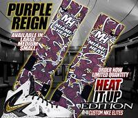MIAMI HEAT FINALS LEBRON V2 Custom Nike Elite Socks (ALL SZ) Kicks NBA space jam