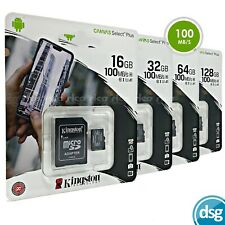 Kingston 32GB 64GB 128GB Micro SD SDHC Memory Card A1 UHS-I With Adapter 100mbs