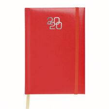 Agenda 12x18 rossa con elastico giornaliera 2020,,ufficio,regalo,borsa.