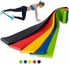 Resistance Loop Bands 5pcs Set Strength Fitness Exercise Yoga Workout Pull Up US