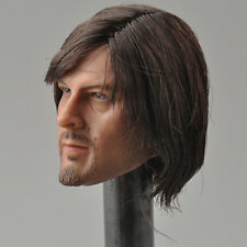 Figure Club 1/6 Scale The Walking Dead Daryl Dixon Head Sculpt Carving
