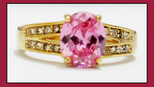 18K Gold Filled Flawless Cubic Zircon Women's Ring size 8.25 - FREE Shipping