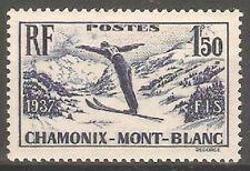 France - 1937 Chamonix-Mont Blanc Skiing Week. MM ( Cat. £10.00p )