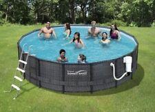 Summer Waves Elite 18ftx48 Above Ground Frame Swimming Pool Brand New