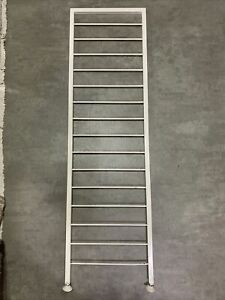 Tall White Ladderax Ladder 125cm Stand Alone, pair Avalb- Delivery Available A