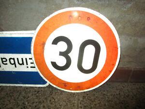 altes Verkehrszeichen Verkehrsschild Blechschild Hinweisschild 60cm 30 km/h