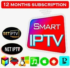 Smart IP TV 12 Months Premium Subscription With live TV VOD Movies HD,FHD.