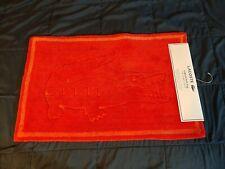 "Red Lacoste Cotton Legend Bath Rug Mat Nwt 20"" x 32"""