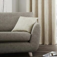 """Textured Duotone Cream Beige Piped 17"""" - 43cm Cushion Cover"""
