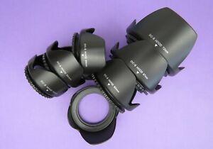 49,52,55,58,62,67,72 Screw Mount Flower Lens Hood For All DSLR SLR Camera Lens