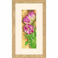 LANARTE 0144533  Tulipes  Kit  Broderie  Point de croix compté  Étamine