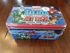 Topps Marvel Hero Attax Trading Card Game Tin NEW 33 Cards Game Mat NIP