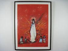 De Grazia Madonna 'Rejoice Rejoice' Vintage Wood Wall Plaque