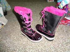 SKETCHERS GIRLS 1 BLACK PINK WINTER BOOTS