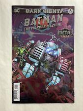 Dark Nights Batman The Murder Machine #1 DC Comic Book Metal Tie-In Foil Cover