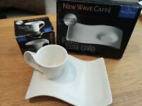 Villeroy & Boch New Wave Taza Café. Espresso Coffee Cup and Plate Boxed