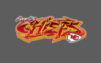 Kansas City Chiefs Graffiti Vinyl Decal 8x3
