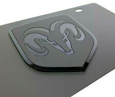 Dodge Ram Black Vanity License Plate Emblem (Premium) (Grill Head Pickup Truck)