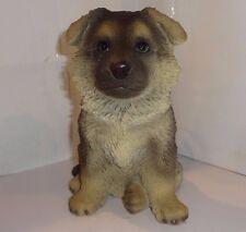 Sitting GERMAN SHEPHERD Puppy Dog - Life Like Figurine Statue Home/ Garden NEW