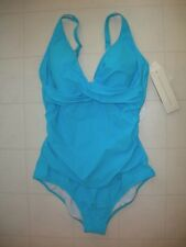 Profile by Gottex TurquoiseTutti Frutti 1 PC V Neck Swimsuit Size 16  NWT