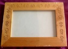 BNIB - 40th Birthday or Anniversary Wooden Photo Picture Frame - NEW