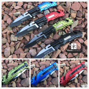 Monogram Custom Tactical Engraved Personalized Folding Knife Multi Function Tool
