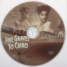 FIVE GRAVES TO CAIRO (1943) FRANCHOT TONE, BAXTER & VON STROHEIM (B. WILDER) DVD