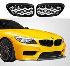 BMW E89 Z4 black chrome diamond style front kidney grilles grille grills UK