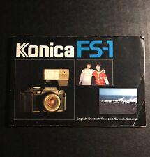 Retro Vintage Konica Fs-1 35mm Film Slr Camera - User Instruction Manual