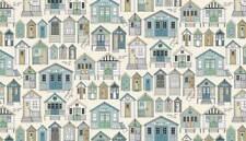 Fat Quarter Beachcomber Beach Huts Cotton Quilting Sewing Fabric
