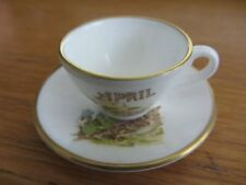 CAVERSWALL  miniature Cup & Saucer  APRIL  Country Diary of Edwardian Lady