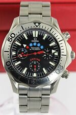 OMEGA SEAMASTER  2269.52. TITANIUM REGATTA AUTO CHRONO BLACK DIVER RACING WATCH