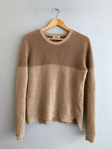 ACNE Studios 100% Linen Two-Tone Pullover Knit Jumper