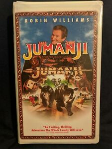 Jumanji VHS 1996 Closed Captioned Clam Shell Case Robin Williams Kirsten Dunst