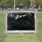 Wooden Italian Palace style Embossed Wall Mirror with silvery frame 114CM X 80CM