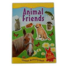 Animal Friends A4 Sticker Activity Book With Fun Facts and Over 70 Re-usable STI
