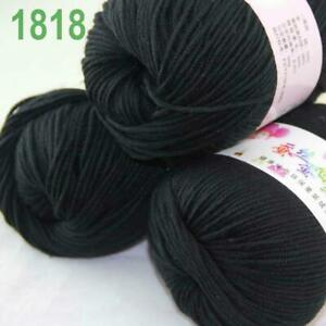 Sale 3 Balls x 50g DK Baby Soft Cashmere Silk Wool Hand Knitting Crochet Yarn 18