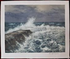 Arsene Chabanian (1864-1949) Armenian French Original Signed Lithograph Seascape
