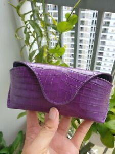 GENUINE CROCODILE S BELLY SKIN Eye Glasses/Sunglasses  Cover /CASE , Custom Made
