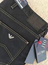 Armani Jeans J10 Black W 34 Extra Slim Fit Comfort Fabric 6X6J10 RRP £195