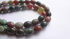 8 x 10mm Rice Barrel Natural Indian Agate Gemstone Beads, Half Strand,19pcs