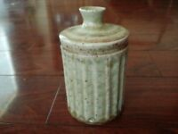 Vintage MID CENTURY MODERN ROSWELL MUSEUM ART CENTER POTTERY VASE JAR NEW MEXICO