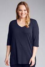 Sara V Neck T-Shirt - Ink