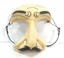 V for Vendetta Wooden Kabuki Mask Hand Painted Guy Fawkes Guido Fawkes Anonymous