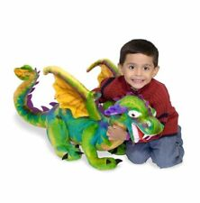 Giant coloré Dragon Peluche Jouet Doux Amazing Melissa & Doug Kids lumineuse NEUF