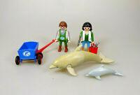 Playmobil aus 7363 Delfin mit Baby + Tierwärter & Zubehör Zoo Tierpark