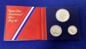 1976-S U.S.BICENTENNIAL SILVER PROOF SET IN OGP WITH COA! NR!